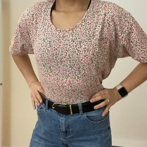 American Apparel Oversized Floral Tee